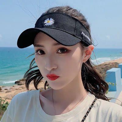 帽子女韩版圆脸空顶帽休闲韩版户外新款学生遮阳帽