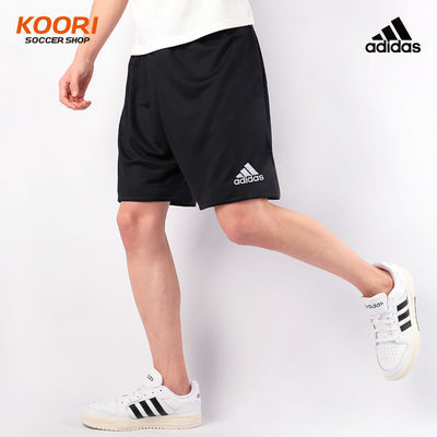 Adidas阿迪达斯足球运动跑步健身比赛训练组队印字号短裤AJ5880