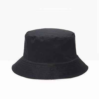 春夏户外旅游遮阳帽子男女两面两色全棉渔夫帽韩版夏季百搭盆帽
