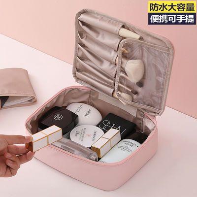 网红化妆包小号便携韩国简约可爱少女心洗漱品收纳盒大容量化妆袋