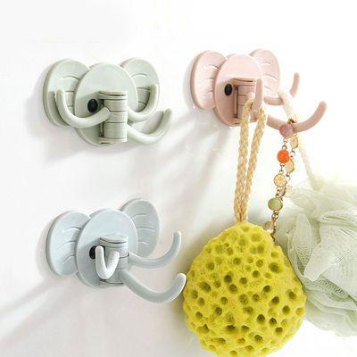 力粘胶无痕粘钩1-9个装/大象壁挂粘钩厨房浴室免钉门后挂钩多用强