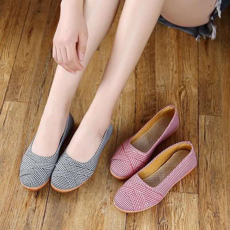 新夏季北京老布鞋女鞋韩版一脚蹬懒人单鞋子平底帆布鞋百搭休闲鞋