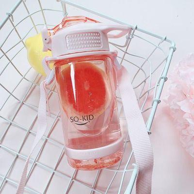 水壶可爱斜挎少女心奇形怪状的杯子创意女孩水杯网红可以背的水杯