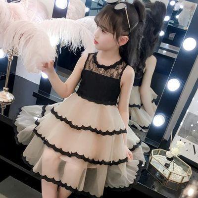 女童夏装2020新款洋气小仙女连衣裙蓬蓬纱蛋糕裙7岁女孩公主裙潮