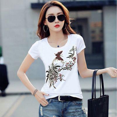 女装白t短袖2020夏季韩版学生修身短袖t恤女士衣服批发地摊热卖