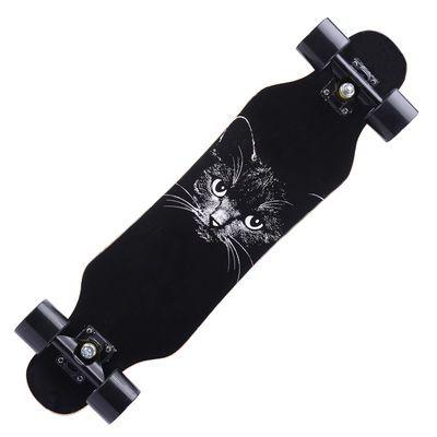 长板公路滑板四轮滑板车青少年男女生舞板成人刷街板滑板初学者