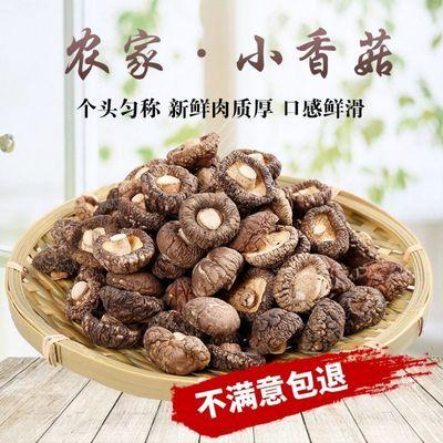 农家干香菇 新货金钱菇肉厚冬菇特产 精选剪脚无根小香菇特产250g