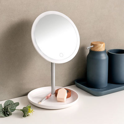 ED调节亮度高清化妆镜梳妆镜180度旋转补光充电式MINISO名创优品