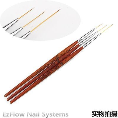 特卖 用美甲工具超细彩绘勾花拉线笔3支套装线条笔画花笔木杆极细