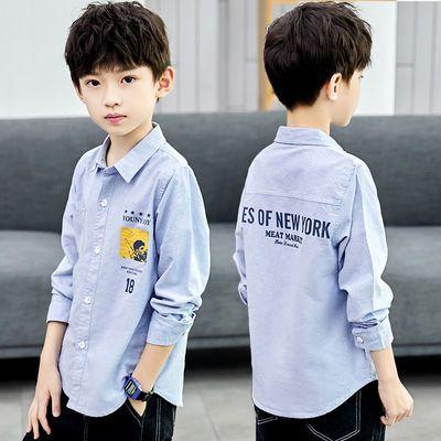 纯棉男童夏款衬衣小孩秋装2020新款中大童夏季短袖衬衫韩版潮上衣