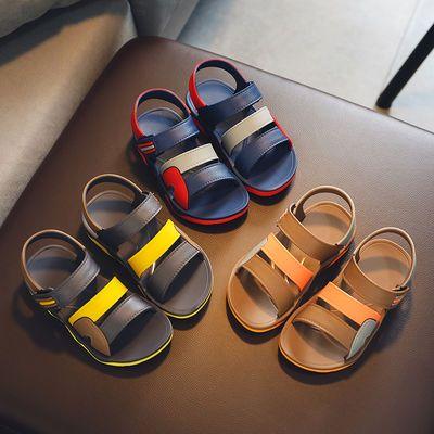 儿童凉鞋夏季新款小中大童沙滩鞋软塑胶鞋男童学生鞋宝宝凉鞋防滑