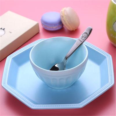 304不锈钢儿童勺子婴儿辅食勺甜品勺子喂养勺小勺子配料勺搅拌勺