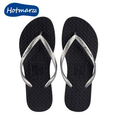 35544/Hotmarzz黑玛人字拖女夏外穿新款情侣沙滩凉拖鞋防滑百搭网红拖鞋