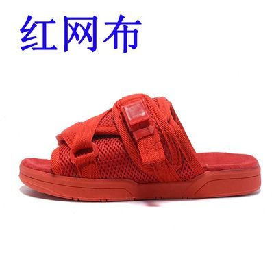 【高品质】陈冠希拖鞋男女夏季明星同款情侣休闲厚底凉鞋沙滩鞋