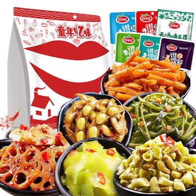 口水娃素菜莲藕萝卜酸豆角莴笋海带毛豆混合小包装下饭咸菜438g