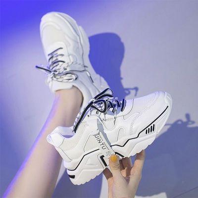 运动鞋2020秋季新款厚底透气鞋子女韩版休闲旅游跑步鞋ins老爹鞋