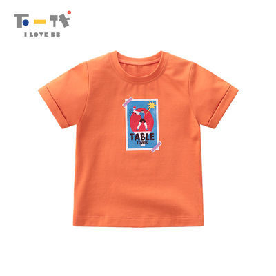 拉比下一代童装2020夏季新款宝宝短袖圆领T恤男童女童上衣薄款