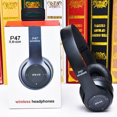 分割无线蓝牙耳机头戴式重低音可插卡可通话安卓苹果手机通用音乐
