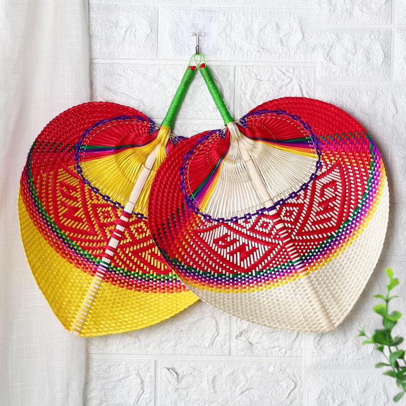 越南精编竹扇竹编扇子手工蒲扇装饰宝宝纳凉复古中国风夏季手摇扇