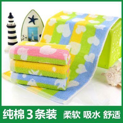 10-3条装儿童毛巾纯棉柔软吸水婴儿小方巾全棉洗脸面巾洗澡巾批发