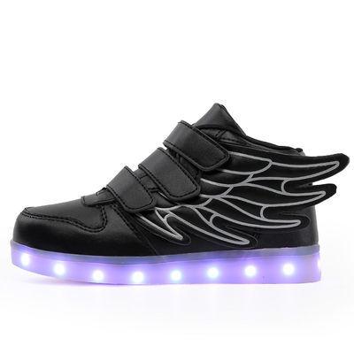 儿童发光鞋充电鞋闪光鞋春秋男女童鞋七彩灯鞋USB充电儿童鬼步舞