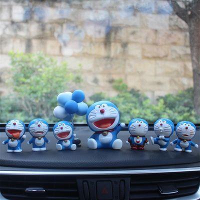 汽车创意摆件哆啦a梦叮当猫蓝胖子车载车内饰玩偶车品公仔个性