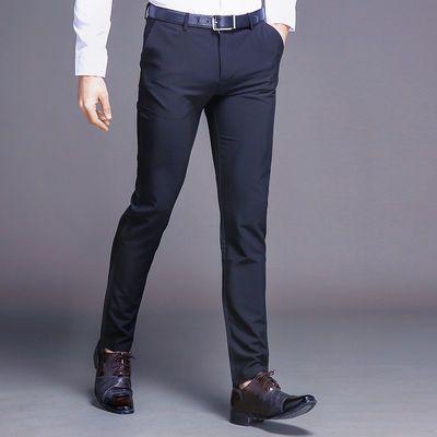 夏季薄款弹力西裤男新款男裤经典修身商务男士韩版休闲裤宽松直
