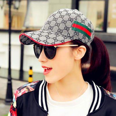 棒球帽子女士百搭街头潮人鸭舌帽夏天韩版户外出游遮阳防晒太阳帽