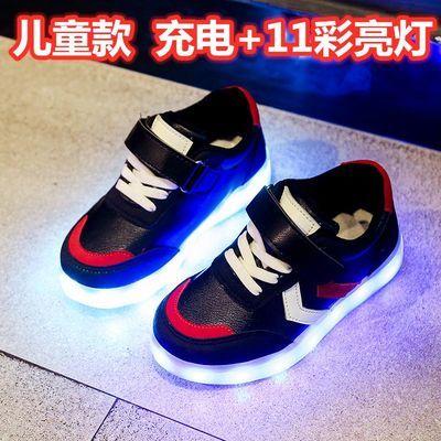 秋季USB充电儿童发光鞋男童亮灯鞋女童闪灯鞋led夜光鞋带灯鞋童鞋