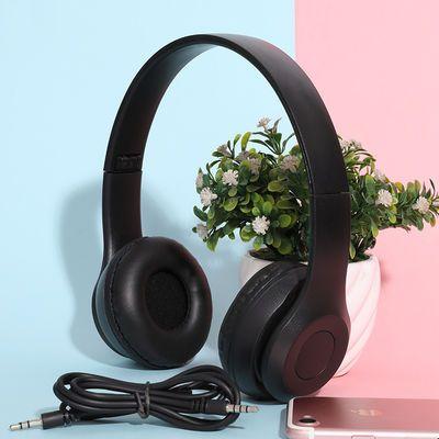 蓝牙耳机头戴式无线耳麦游戏运动音乐P47插卡通话安卓苹果通用