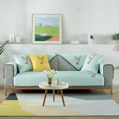 沙发垫四季通用防滑坐垫北欧简约现代实木全包万能沙发套罩巾盖布