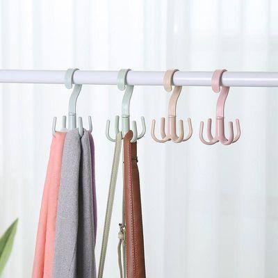 创意北欧风四爪挂钩360度可旋转衣柜多功能挂包包领带晾晒挂架