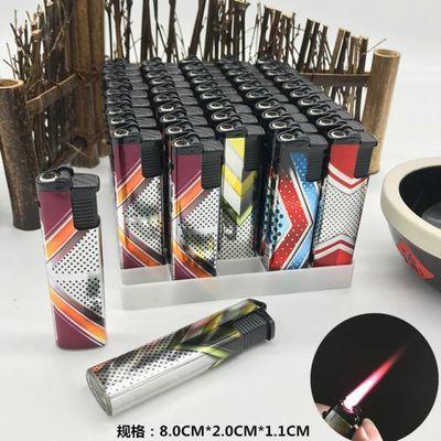 双汇整盒50个装荧光塑料防爆防风电子充气打火机一次性明火烟酒店