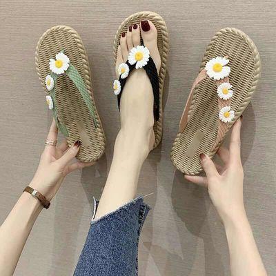 人字拖女学生韩版外穿网红时尚百搭个性防滑ins平底夹脚拖鞋女