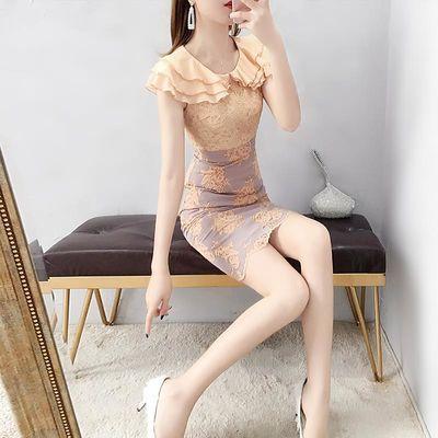 名媛小香风连衣裙气质女神范衣服收腰显瘦蕾丝裙子女夏淑女包臀裙