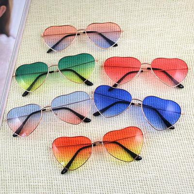 分割【买就送】韩版可爱桃心复古爱心渐变炫酷夏季墨镜透明太阳眼