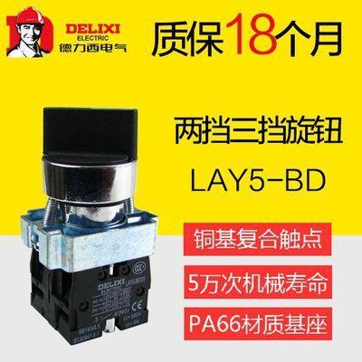 德力西LAY5S-BD25金属型旋钮两挡旋钮 二位自锁1NO+1NC 1常开常闭