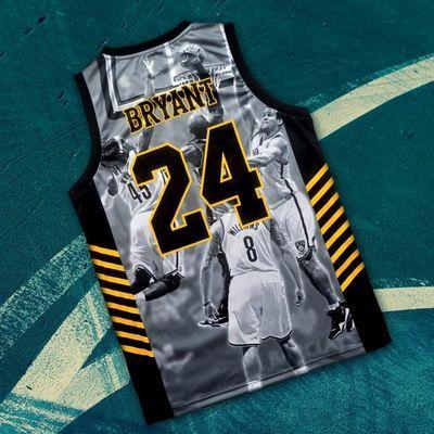 科比纪念版篮球服24号8号球衣成人男款透气吸汗训练背心上衣