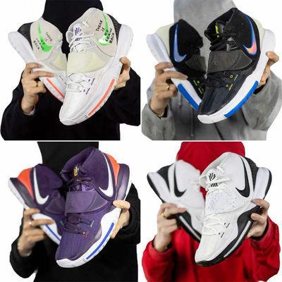 欧文6代篮球鞋木乃伊黑白治愈世界白绿字幕黑红气垫男女5战靴
