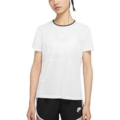 Nike耐克女上衣2020夏季圆领透气跑步运动短袖T恤 CQ8869-287-100