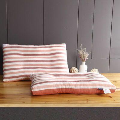 纯棉日式立体枕头水洗棉枕芯单人学生成人枕头芯宿舍颈椎枕一个装