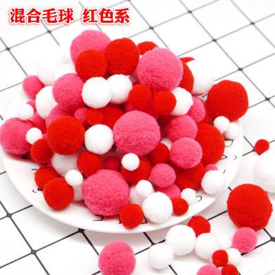 包邮DIY手工串珠配件材料6-20mm塑料实色散珠圆珠糖果色彩色珠子