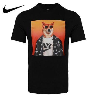 Nike耐克短袖男装2020夏季新款柴犬印花圆领运动服T恤CT6313-010