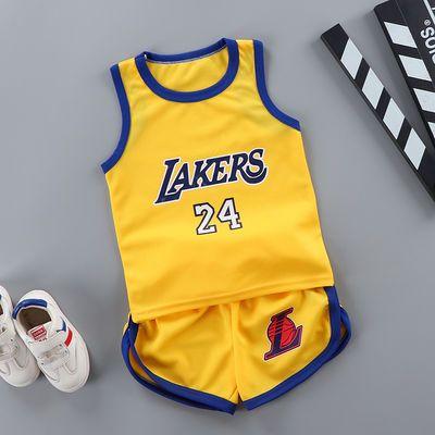 夏季男童背心无袖短裤套装儿童篮球服女童速干运动服两件套1-9岁