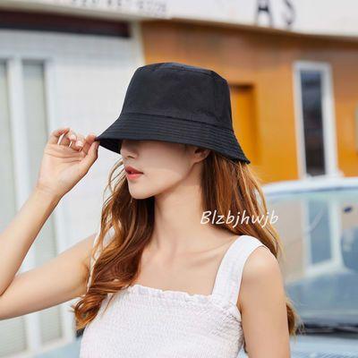 夏天渔夫帽女遮脸韩版防晒紫外线遮阳帽子大沿潮百搭日系夏季时尚