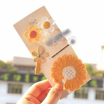 韩版学生可爱发夹软糖海星一字夹头饰刘海夹小雏菊桃心网红发饰