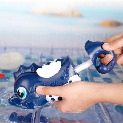 儿童洗澡玩具游泳池戏水抽拉喷水宝宝海马卡通漂流出游便携小水枪