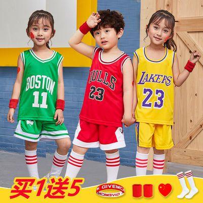 儿童篮球服套装湖人詹姆斯23号男童科比篮球衣欧文篮网球服表演服