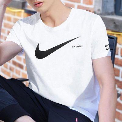 Nike耐克短袖男 2020夏季新款双勾T恤宽松大勾体恤运动半袖CK2253