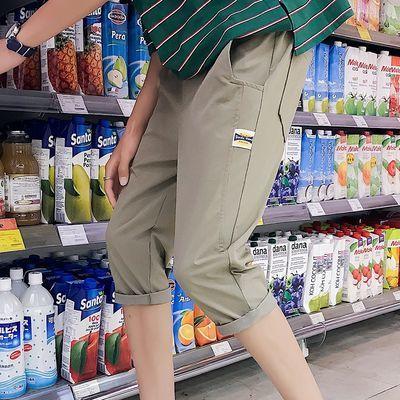 七分裤男士短裤夏季休闲分裤子韩版修身潮夏天薄款港风潮牌小脚裤
